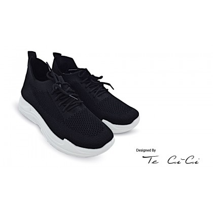 Normcore Platform Stocking Sneakers