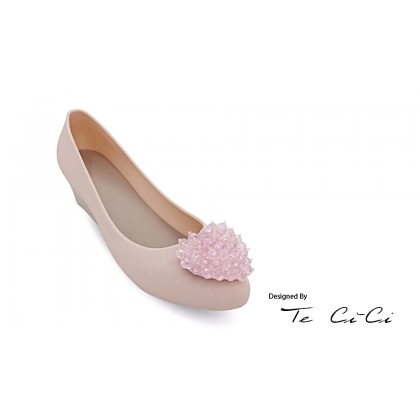 Jelly Heels With Crystal Heart
